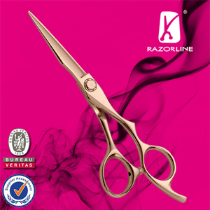 Razorline AK05B Rose Gold Professional Hair cutting Scissor with WCA and BSCI certificate