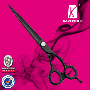 Razorline NPK24 Black Teflon Coating Dog Grooming scissor with WCA and BSCI certificate